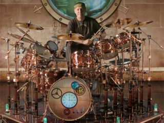 Neil Peart s DW drum kit gets steampunk makeover   MusicRadar View a slightly larger image here