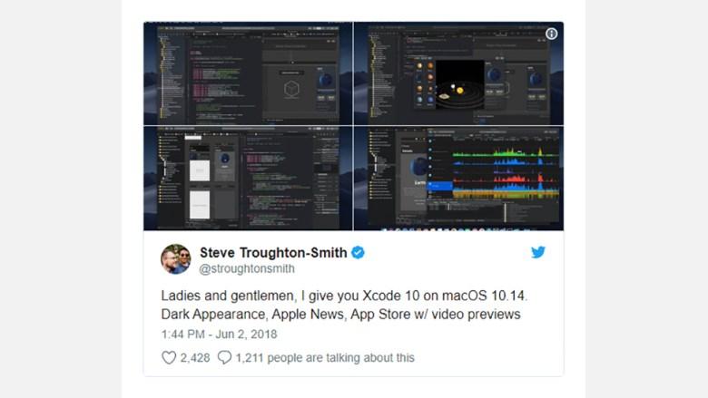 dark macOS tweet