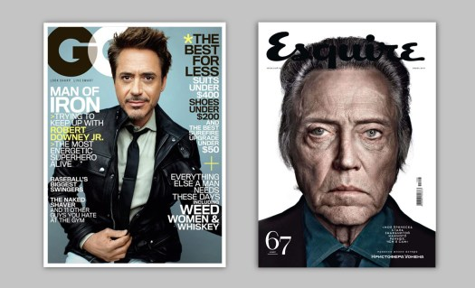 magazine covers: GQ and Esquire