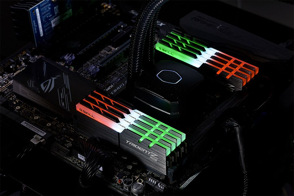 GSkills Trident Z RGB DDR4 Memory Balloons To 128GB At 3