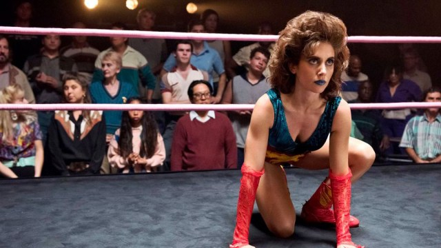 A still from the TV show GLOW