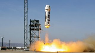 Jeff Bezos' Blue Origin also has designs on the reusable rocket market. Credit: Blue Origin