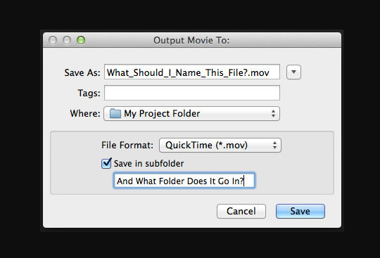 'Save as' dialog box on screen
