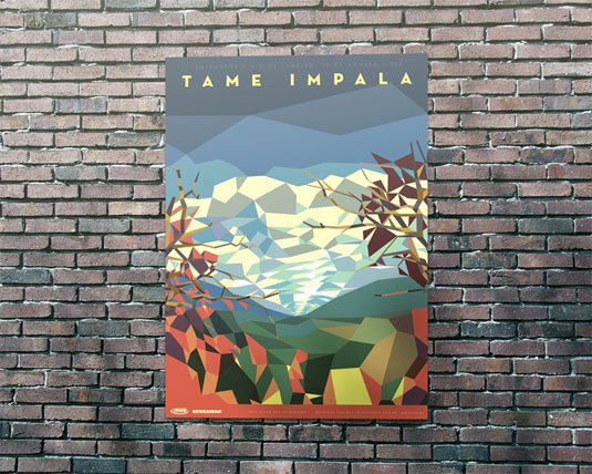 Geometric patterns: Tame Impala poster
