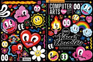Hattie Stewart designed this wraparound cover for Computer Arts magazine