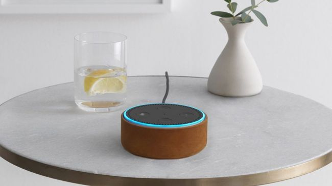 A still of the amazon echo dot smart speaker