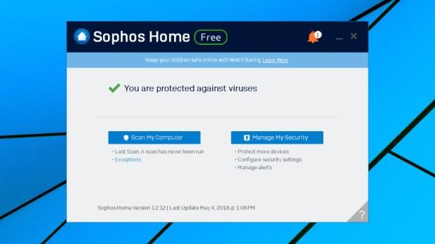 Sophos Home Free client