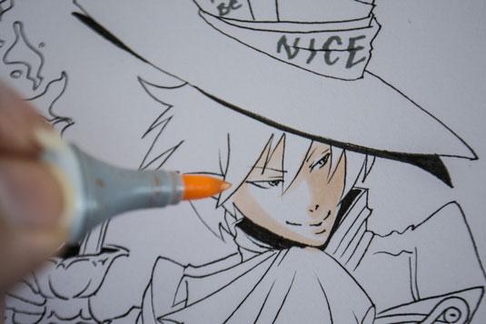 How to draw manga - colouring manga skin