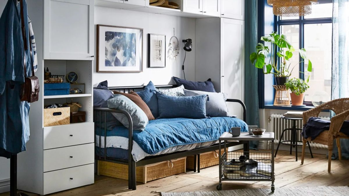 15 small bedroom ideas - stylish looks to copy in a tiny ... on Small Bedroom Ideas  id=56633