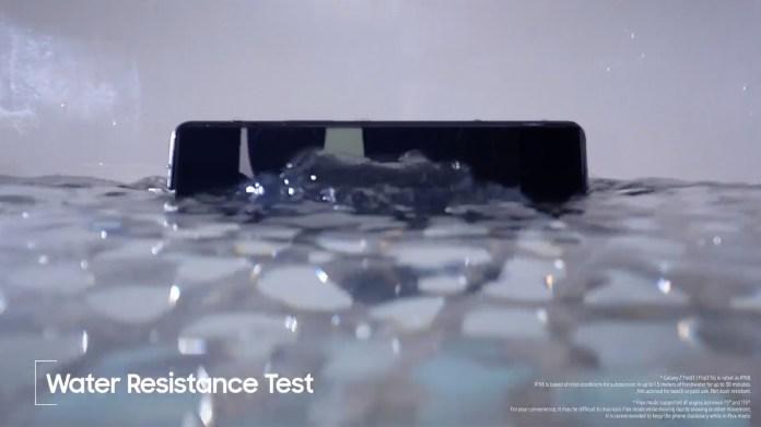 Samsung Galaxy Z Flip 3 undergoes water immersion test