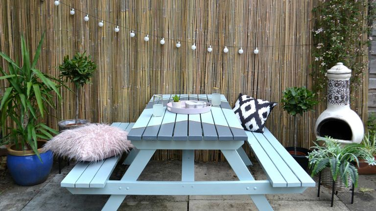 old garden table in five easy steps