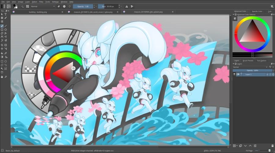 Krita - free graphic design software