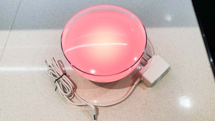 Govee Ambient RGBWW portable table lamp with charging cord