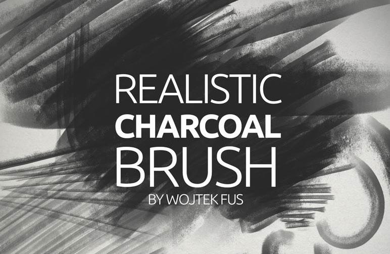 Realistic charcoal Photoshop brush