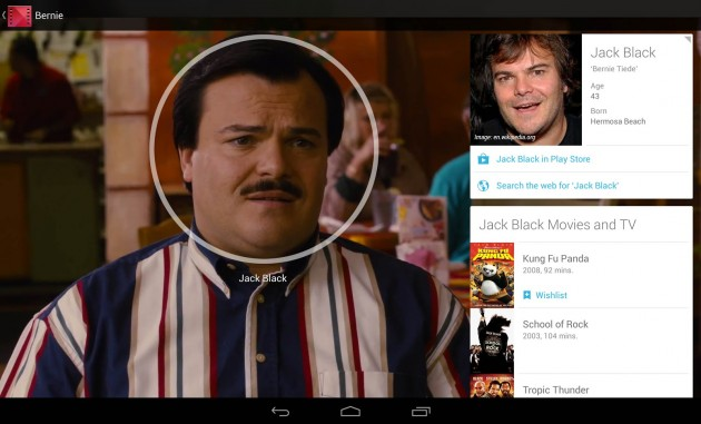 A photo of the Google Movies and TV app in action
