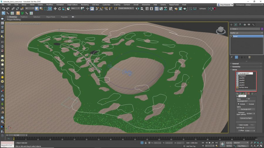 3ds Max - scatter patches