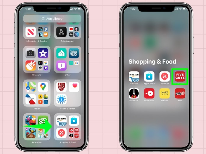 how to delete apps from an iPhone: delete apps from app library