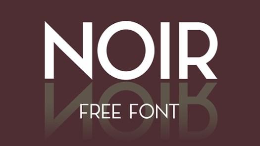 Noir free retro font