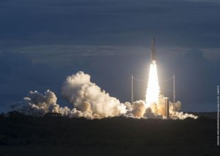 Arianespace launched 2 satellites for DirecTV on May 27, 2015, from Europe's main spaceport, the Guiana Space Center in South America.
