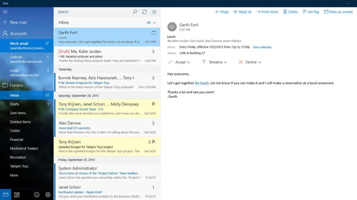 Mail for Windows 10