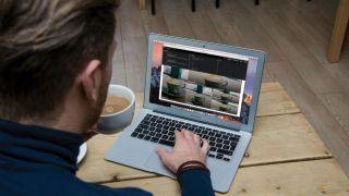 Designer creating a CSS Grid website