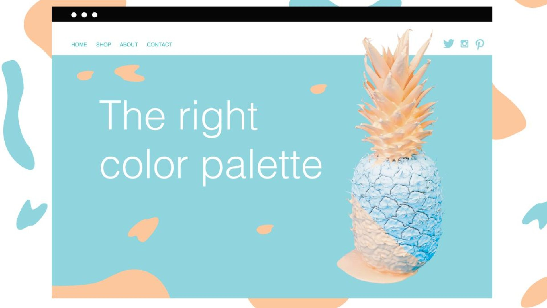 Choose the perfect colour palette for your website