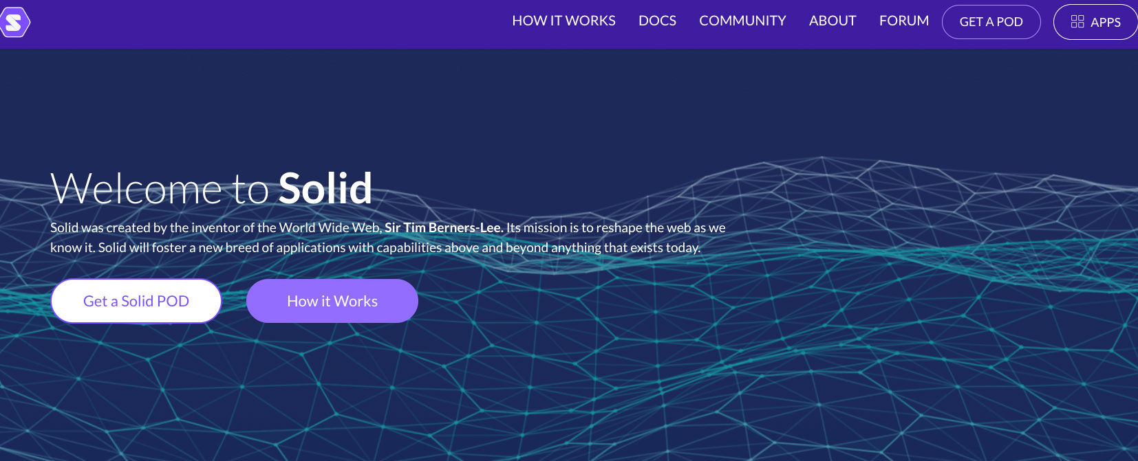 solid landing page