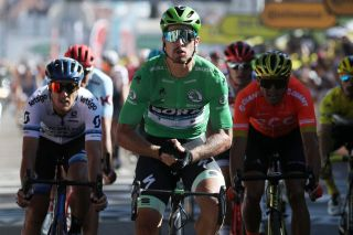 Peter Sagan wins in green at the Tour