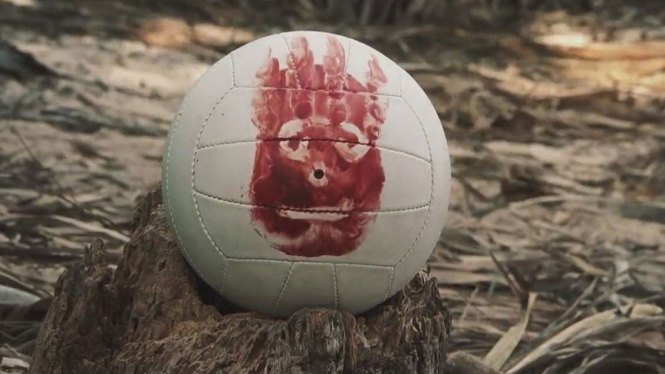 football with face on it from Castaway film