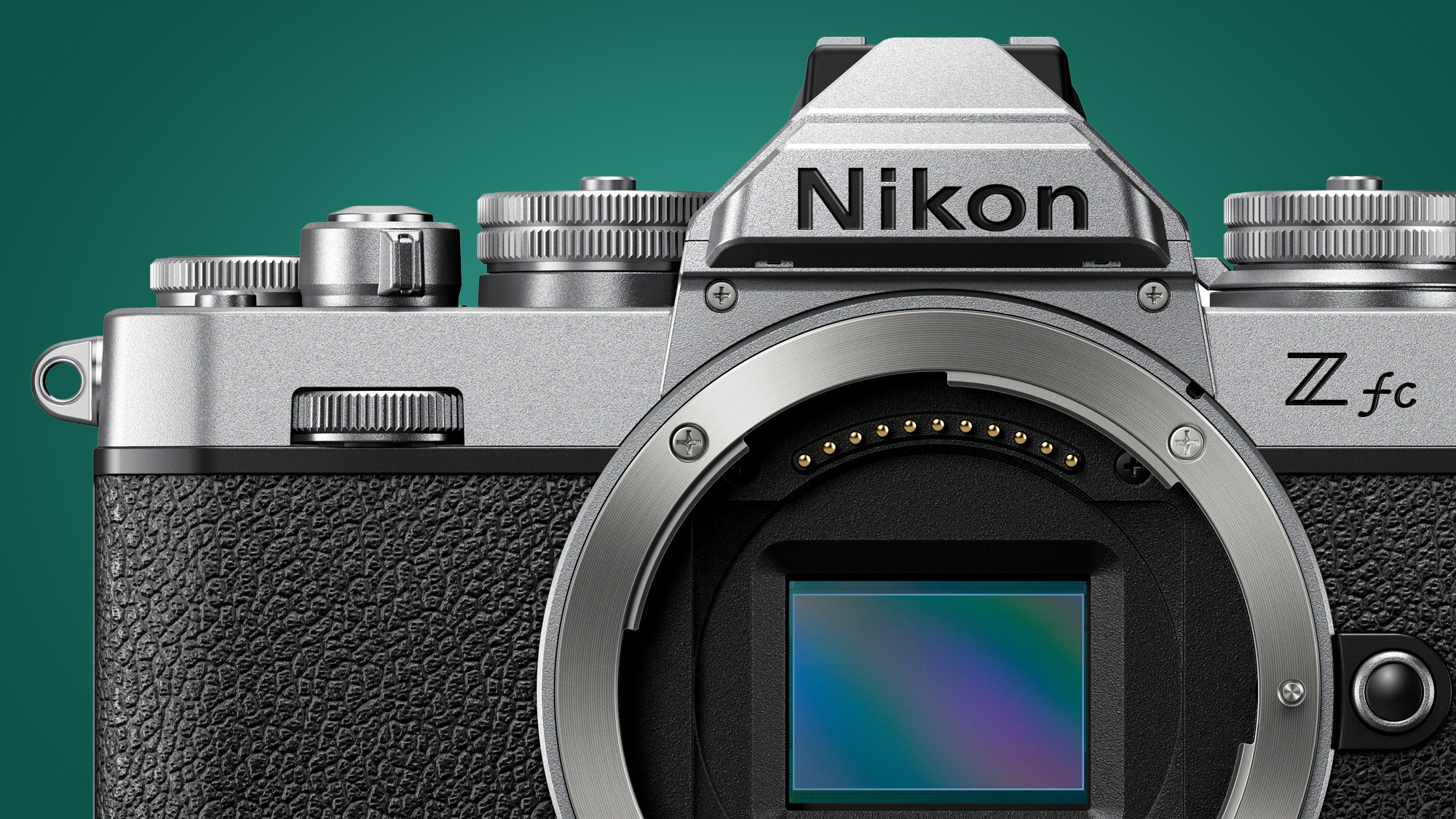 Image showing front of Nikon Zfc without lens