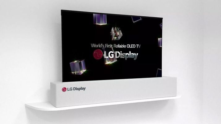 An LG rollable TV prototype