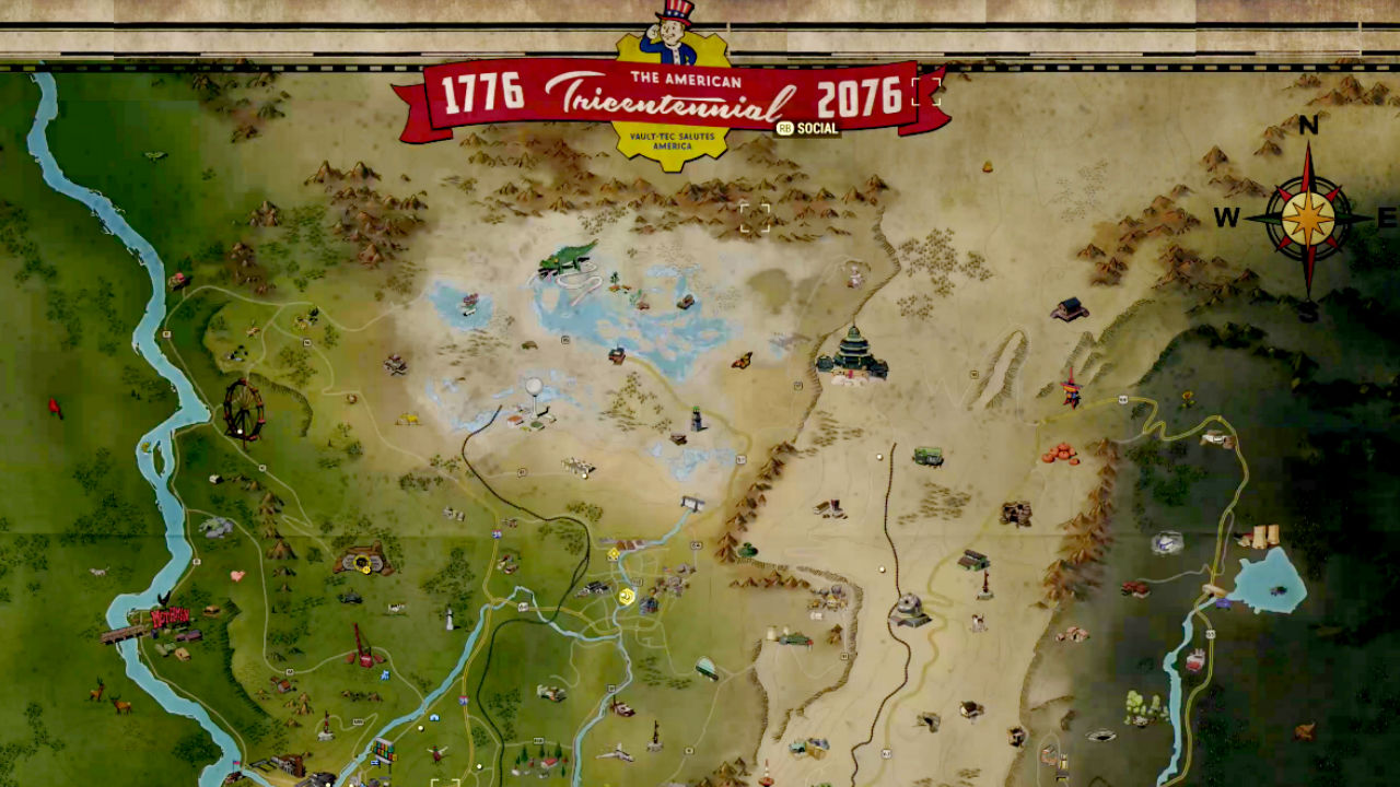 Fallout 76 Map Where S Safe Where To Find Resources And Where Are The Monsters Gamesradar