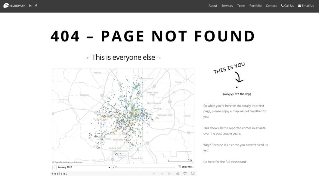 bluepath 404 page