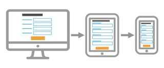 Responsive forms adapting to different devices' screens