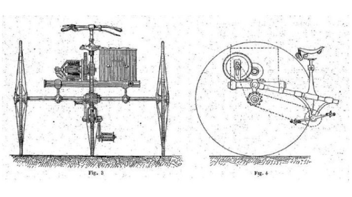 drawing of Graffigny Tricycle