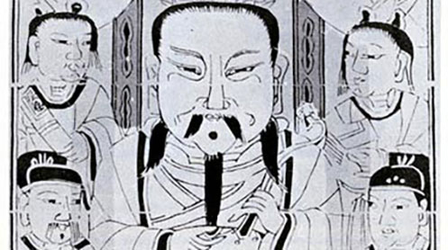 Drawing of Cai Lun
