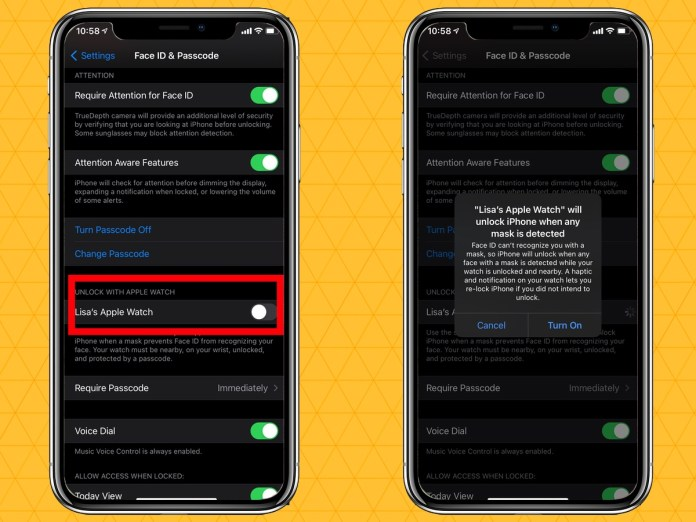 how to unlock your iphone with an apple watch with iOS 14.5