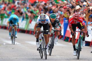 Alejandro Valverde won a stage at the Vuelta