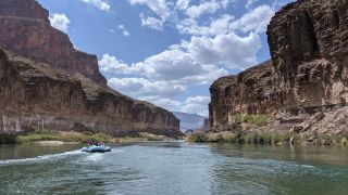 A view of the Grand Canyon from the Colorado River.