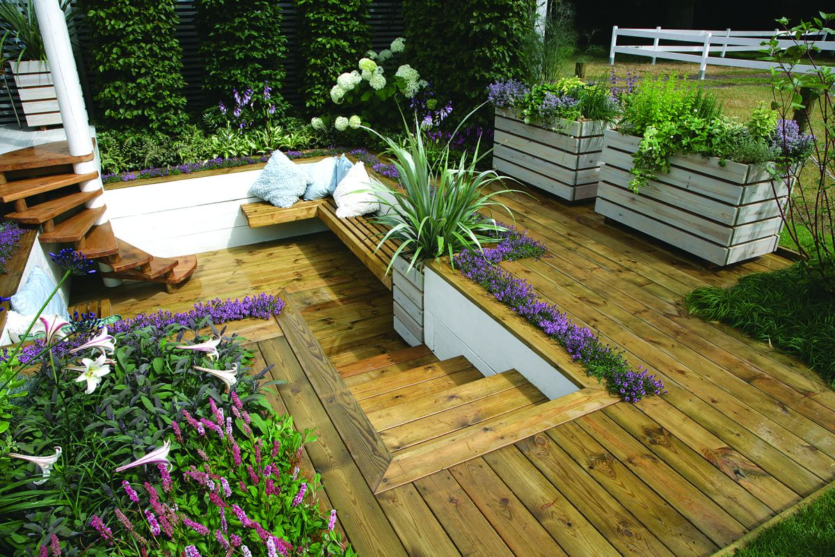 10 small garden decking ideas | Real Homes on Small Backyard Landscaping  id=76103