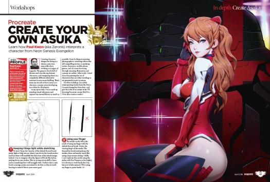 ImagineFX magazine spread