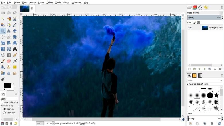 GIMP screen grab