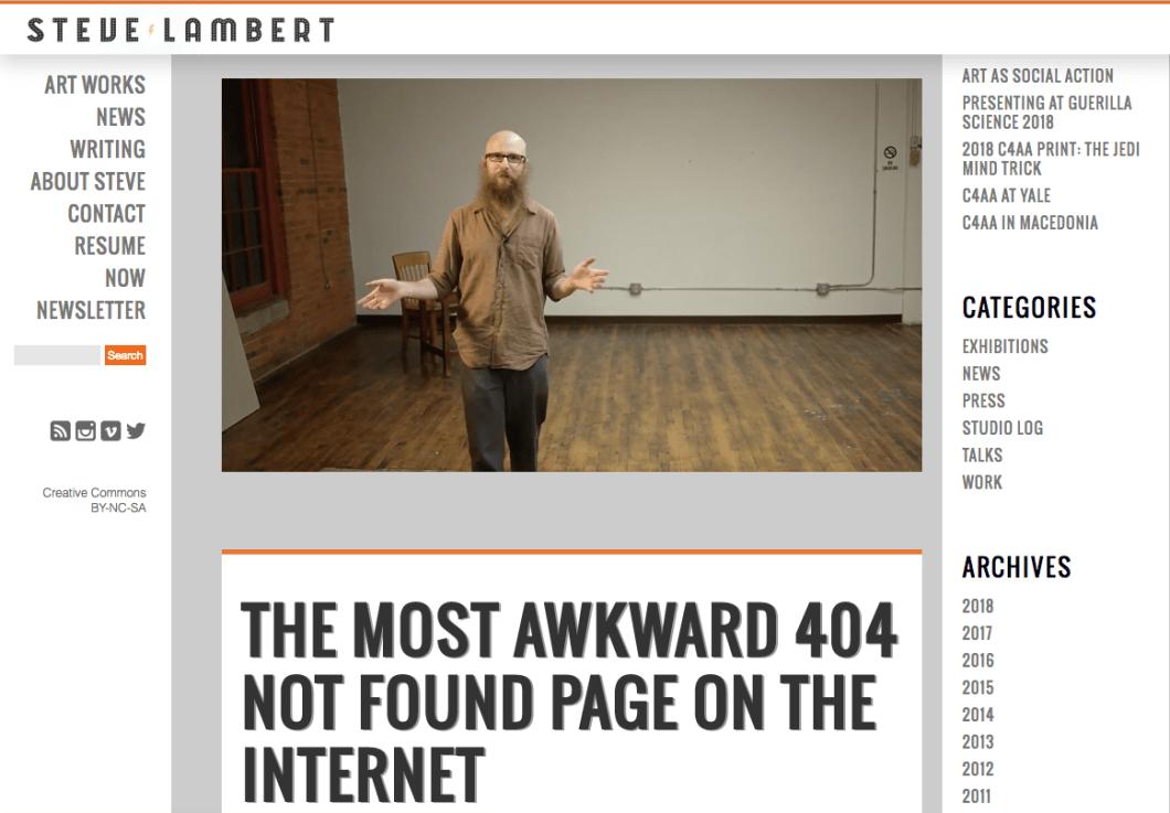 steve lambert 404 page
