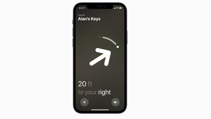 AirTag iOS interface