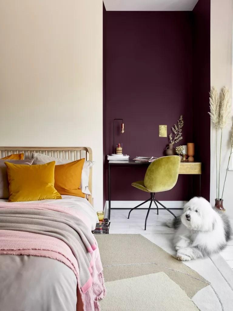jewel toned bedroom