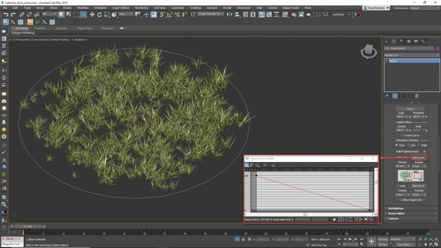 3ds Max - add grass and small plants
