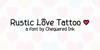Tattoo fonts: Rustic Love Tattoo