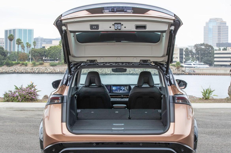 Nissan Ariya 2022 electric SUV — trunk