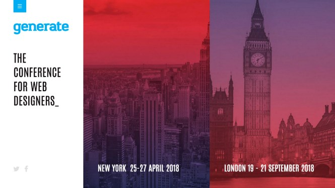 New York skyline and London's Big Ben represent the Generate events for 2018