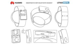 Here the earphones are stored on the underside of the band. Credit: LetsGoDigital/WIPO